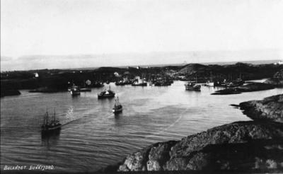 Fiskeflåten for anker i Nikøyosen