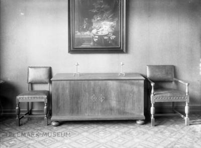 Interiør med møbler