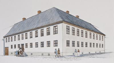 MOESTUEGÅRDEN og UNIVERSITETET I1814