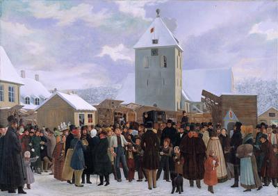 Marked på Stortorvet i 1843