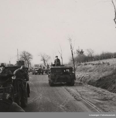 Tysk kolonne under fremrykking