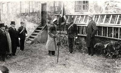 Kong Haakon på Kongsvinger festning 1920 åra