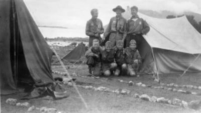 Speiderleir på Ulfsvåg-leira
