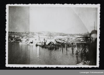 Bombet havneområde i Narvik