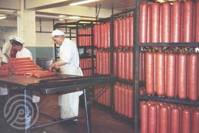 Pakking av kjøttprodukter ved Bothnerfabrikken