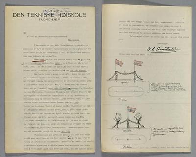 Åpningen av Norges tekniske høyskole 15. september 1910