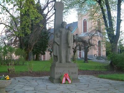 Skulptur over falne fra Narvik