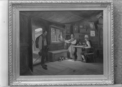 Maleri malt av Wergeland fot. hos Kate Larsen Volckmar
