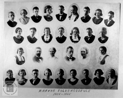 Marnar Folkehøgskole 1924-1925