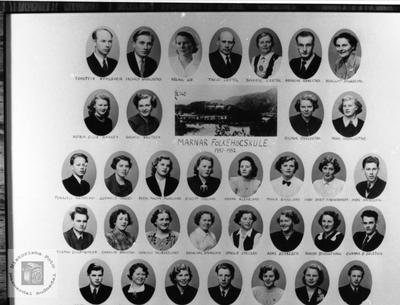 Marnar Folkehøgskole 1951-1952