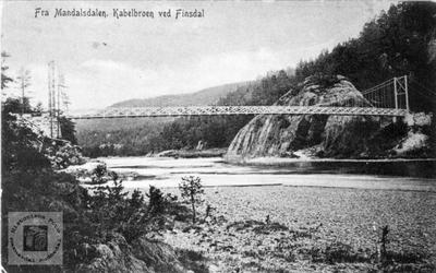 Kabelbroen ved Finsdal