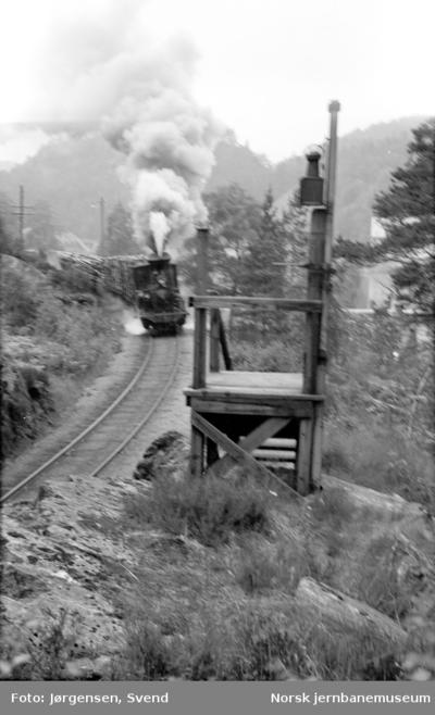 Innkjørsignal til Iveland stasjon sørfra