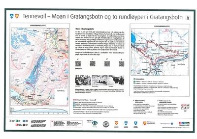 Start krigsminneløype fra Gratangsbotn - Tennevoll - RIEVTTAK GUOLBBA
