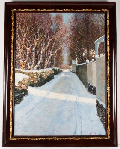 Eiganesveien mellom Ledaal og Breidablikk, 1901