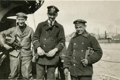 Tre tyske sjømenn i norsk havn