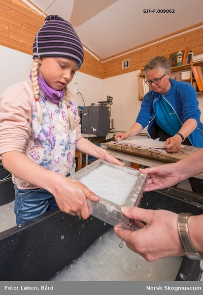 Fra det såkalte «papirkjøkkenet» ved Klevfos Industrimuseum på Ådalsbruk i Løten