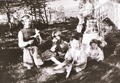 Barn med fly