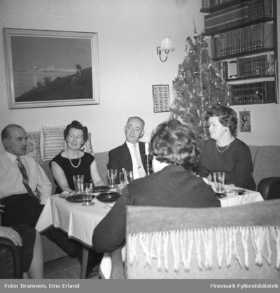 Juleselskap hjemme hos familien Drannem i Hammerfest