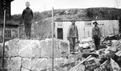'grundstenene lagt til vort nye hus paa 'Heimen'