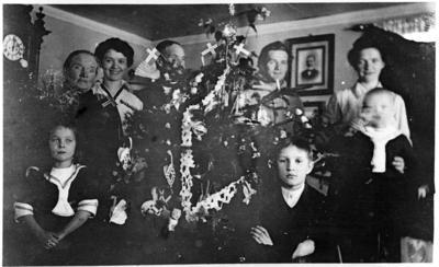 Juleselselskap hos Hilda og Johannes Buskum