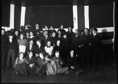 Juletrefest på Fagernes skole i Totenvika 1915