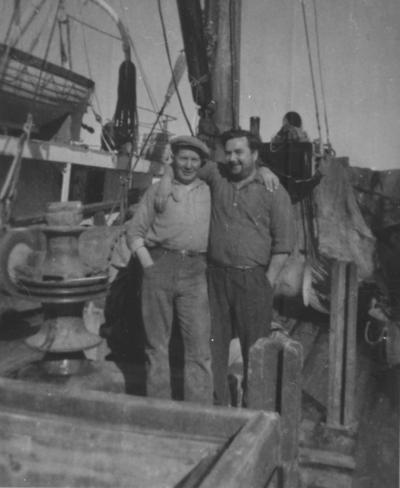 To menn ombord på Nordsild