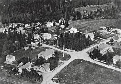 Bøverbru fra lufta ca. 1935