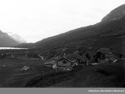 Gårdsbruk i fjellandskap