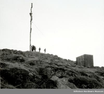 Værvarslingsmasta på Bjørnehaugen