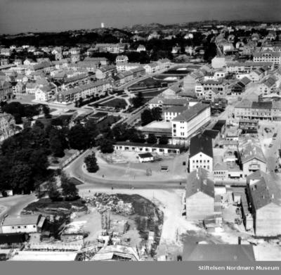 Foto fra Kongens Plass på Kirkelandet i Kristiansund