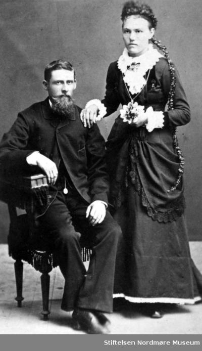Portrett av en ukjent mann og kvinne