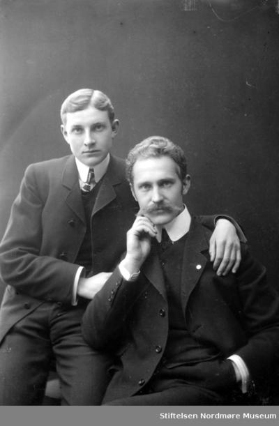 Portrett av to ukjente menn