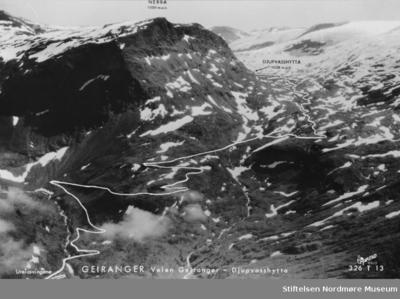 Postkort fra Geiranger og Geirangerveien
