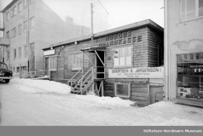 Foto fra brakkene til Norges Brannkasse i Kristiansund
