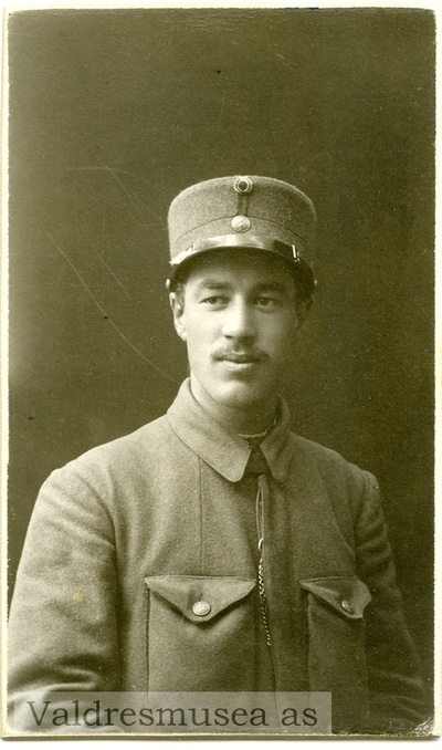 Portrett av Ola koppervik i militæruniform