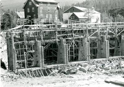 Bygging av damm Hagafoss