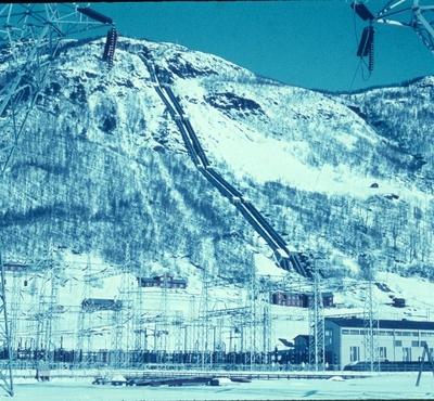 Røyrgate og kraftstasjon ved Rud Kraftstasjon