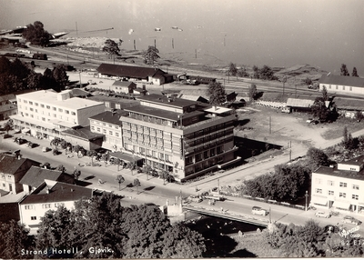 Flyfoto fra Gjøvik sentrum