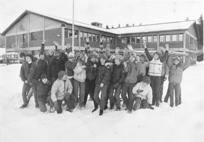 Elever på Hakadal ungdomsskol