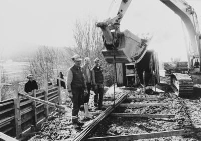 Gravearbeider på Kirkeby skole