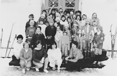 Elever på Holm skole i februar 1988