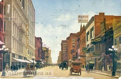 Postkort med motiv fra Nicollet Ave