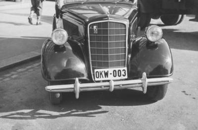 Kjøretøy som den tyske okkupasjonsmakten har bragt med seg til Norge