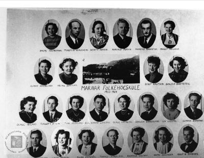 Marnar Folkehøgskole 1953-1954