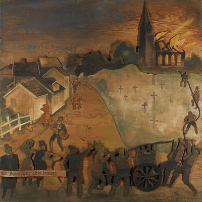 1862: Byens første kirke brenner