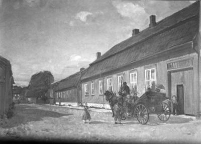 Avfotografert maleri av Ivar Bruu