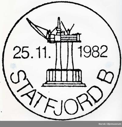 Statfjord B motivdatostempel for frimerker