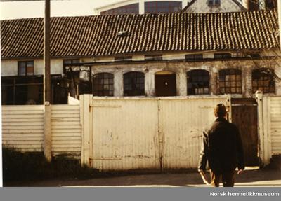 Hermetikkmuseet før restaurering. Fasaden