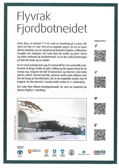 Flugzeug wrack - Fjordbotneidet