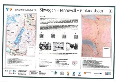 Kriegsgedenk-Wanderweg Sjøvegan-Tennevoll-Gratangsbotn